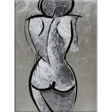 Woman Original Painting on Wrapped Canvas