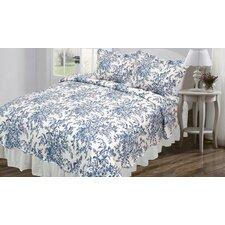 Vintage Ali Quilt Set in Blue & White