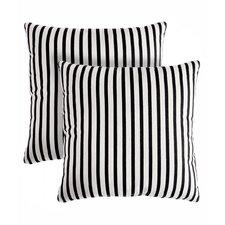 Medford Stripe Cotton Throw Pillow (Set of 2)