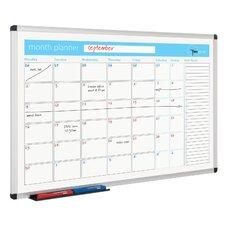 Wandmontiertes Planer-Whiteboard, 60 cm H x 90 cm B
