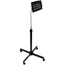 Height-Adjustable Gooseneck Stand with Casters for iPad Air/iPad and Retina Display/iPad 3rd Gen/iPad 2/Tablet