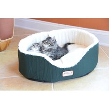 Cat Bed in Laurel Green and Ivory