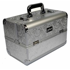 Vanity Case / Makeup Box in Silver