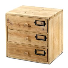 3 Storage Drawers Jewellery Box