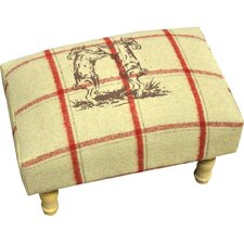 Boxing Hares Foot Stool