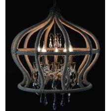 Bird Cage 6 Light Foyer Chandelier
