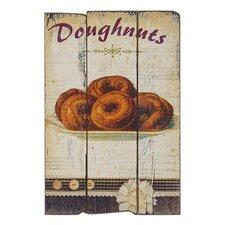 Doughnuts Graphic Art Plaque