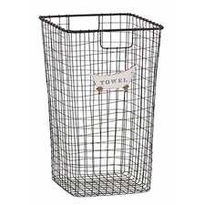 Tall Iron Towel Basket