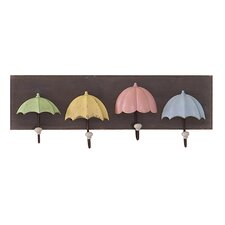 Umbrella Plaque Wall Mounted Coat Rack