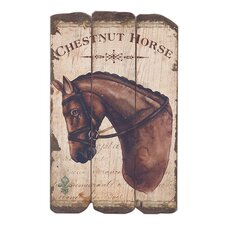Chestnut Horse Graphic Art Plaque