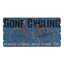Wooden Gone Cycling Wall Décor