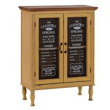 Glass Fronted Bath House Cupboard with 2 Doors