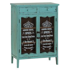 Glass Fronted Ingredients Cupboard with 2 Doors