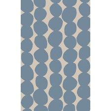 Textila Light Gray/Sky Blue Area Rug