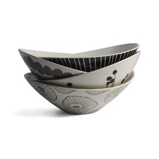 Monochrome 4 Piece Bowl Set (Set of 4)