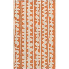 Decorativa Hand-Tufted Orange/Neutral Area Rug