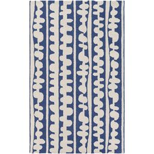 Decorativa Hand-Tufted Blue/Neutral Area Rug