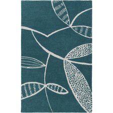 Decorativa Hand-Tufted Blue/Gray Area Rug