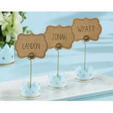 Little Prince Crown Place Card Holder (Set of 18)