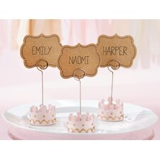Little Princess Crown Place Card Holder (Set of 18)