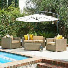 Cane Garden 5 Deep Piece Seating Group with Cushions