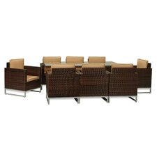 San Mateo 9 Piece Dining Set with Cushions
