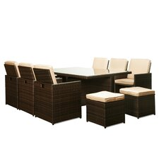 Scorpio 11 Piece Dining Set with Cushions