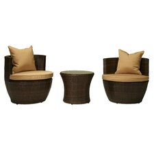 Delmonico 3 Piece Deep Seating Group with Cushions