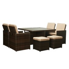 Shalimar 9 Piece Patio Set with Cushions