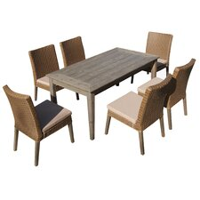 Winchester 7 Piece Dining Set with Cushion