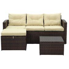 Rio 3 Piece Deep Seating Group with Cushion