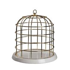 Twitable Decorative Metal Birdcage with Porcelain Base