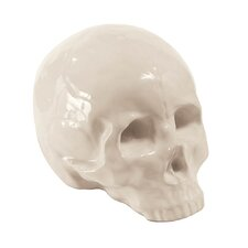 Memorabilia Porcelain Skull Figurine