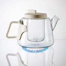 Era Glass and Porcelain Teapot