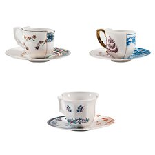 Hybrid Porcelain Coffee Cup and Saucer Set