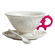 I-Wares Porcelain Teacup & Saucer (Set of 4)