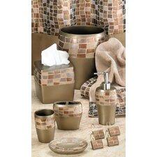 Mosaic Stone Waste Basket