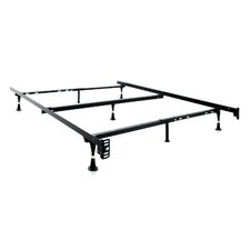 7 Leg Adjustable Metal Bed Frame with Center Support & Glide