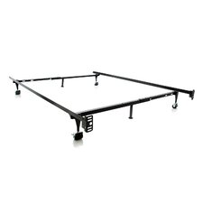 Heavy Duty 6-Leg Adjustable Metal Bed Frame with Rug Roller