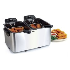 Platinum 3.79 Liter Stainless Steel Dual Deep Fryer