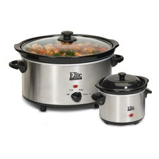 Cuisine 5-Quart Slow Cooker with Mini Dipper