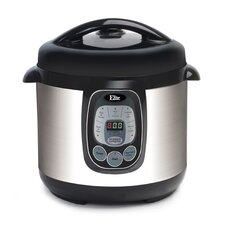 Platinum 8-Quart Electric Stainless Steel Pressure Cooker with 6 Functions