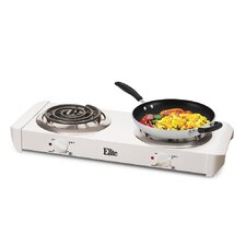 Cuisine Electric Double Hot Plate Coil Burner