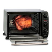 Cuisine 0.8-Cubic Foot Oven Broiler Toaster with Rotisserie