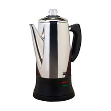 Platinum Stainless Steel 12 Cup Tea and Coffee Percolator