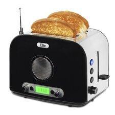 Platinum 2 Slice Radio Toaster