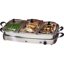 Platinum Deluxe 7.5 Qt. Stainless Steel Electric Buffet Server