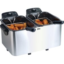 Platinum 2.83 Liter Stainless Steel Dual Deep Fryer