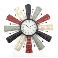 "Oversized 29.5"" Metal Wall Clock (Set of 8)"