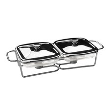 Twin Food Warmer with Marinex Glass Dishes